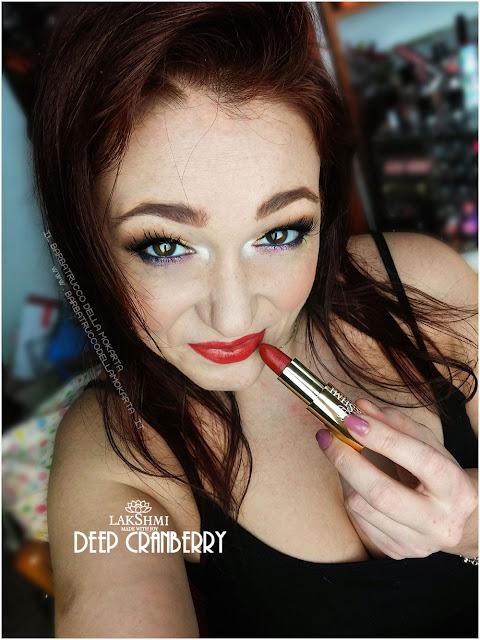 deep cranberry makeup lakshmi makeup vegan ecobio
