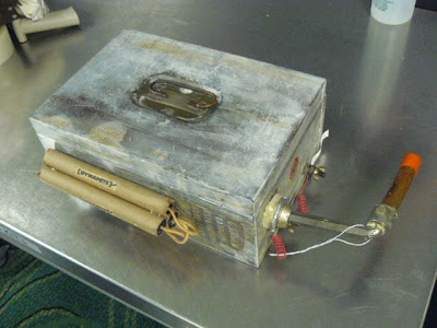 A gag retirement gift designed to look like an improvised explosive device didn't look like a gag to the TSA Officer who spotted it on the X-ray at St. Petersburg / Clearwater (PIE). With its metal box and wires strewn about, it looked like it could be the real deal.