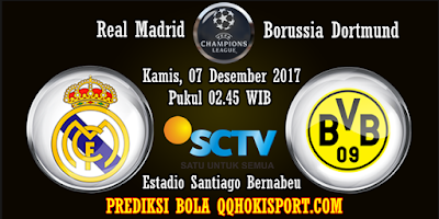Prediksi Bola Real Madrid vs Borussia Dortmund Liga Champions 2017-2018