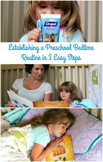 Make sure your little one gets plenty of rest for a full day of fun & learning with these 3 Easy Steps for Establishing a Preschool Bedtime Routine.