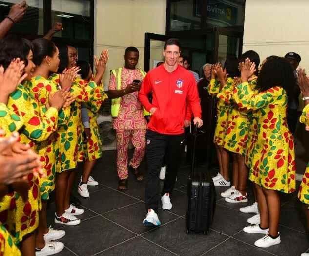 Spanish footballer, Fernando Torres arrives Uyo Nigeria