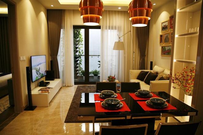 Phòng khách Sun Grand City Láng Hạ