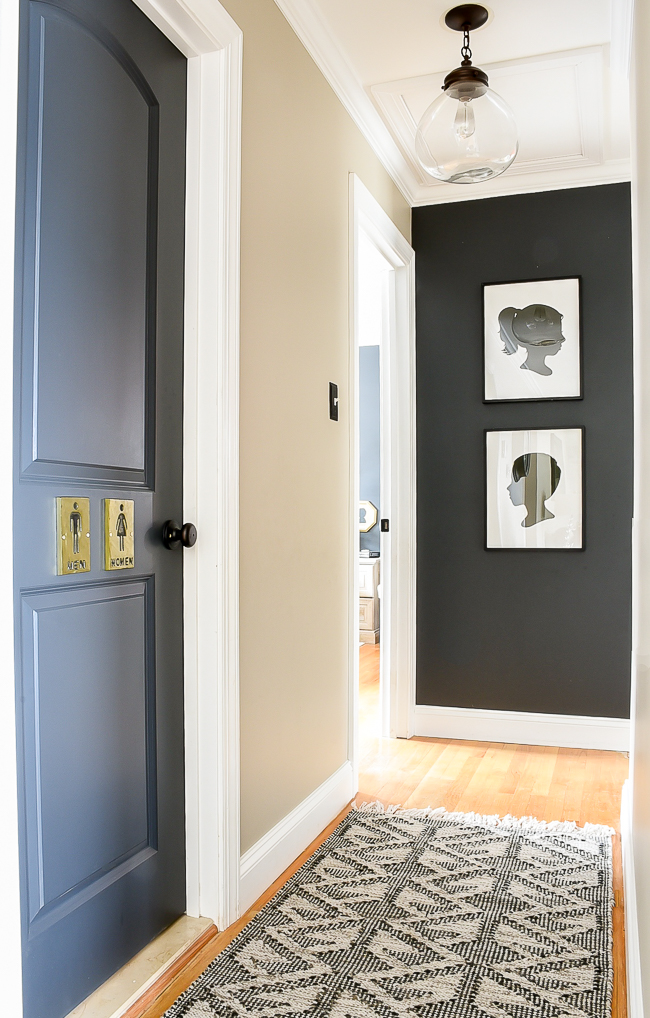 Iron Ore painted hallway, hallway decor