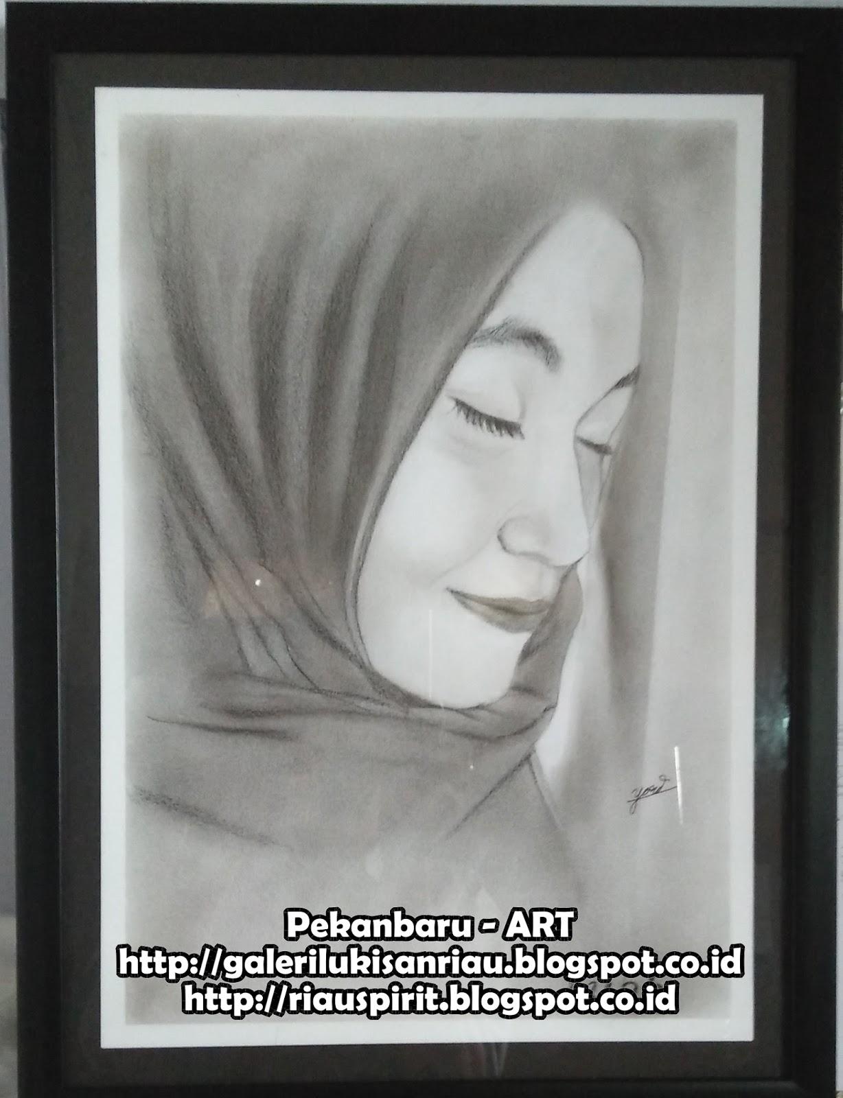 Gambar Sketsa Wajah Wanita Berhijab Belog Kite Kite Aje