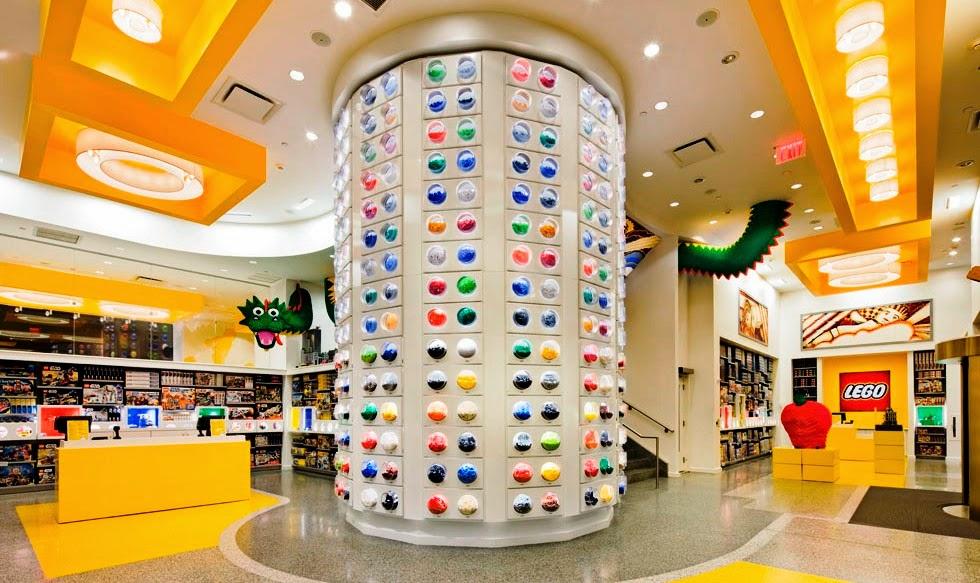 Loja de brinquedos Lego Store em Nova York