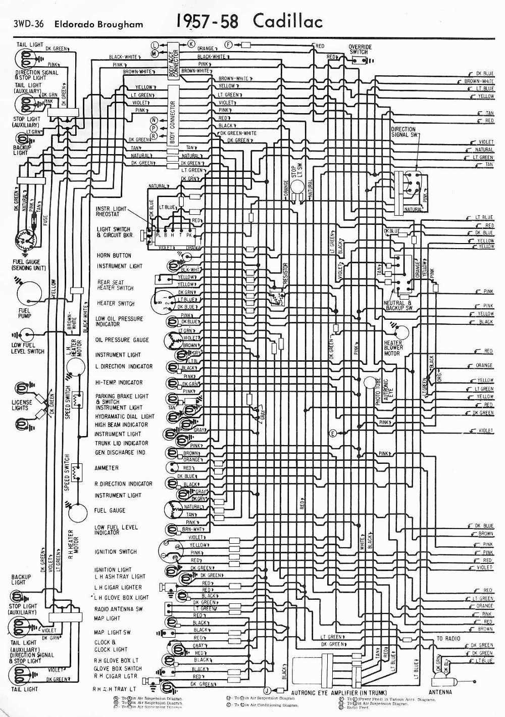 Wiring Diagrams schematics 195758 Cadillac Eldorado
