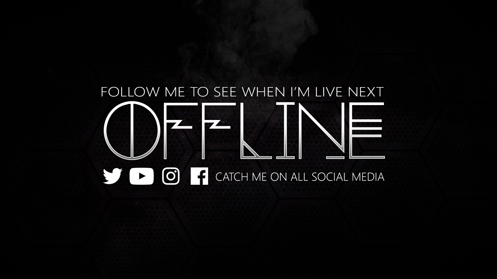 Offline - Black and white full social media - Twitch Utility