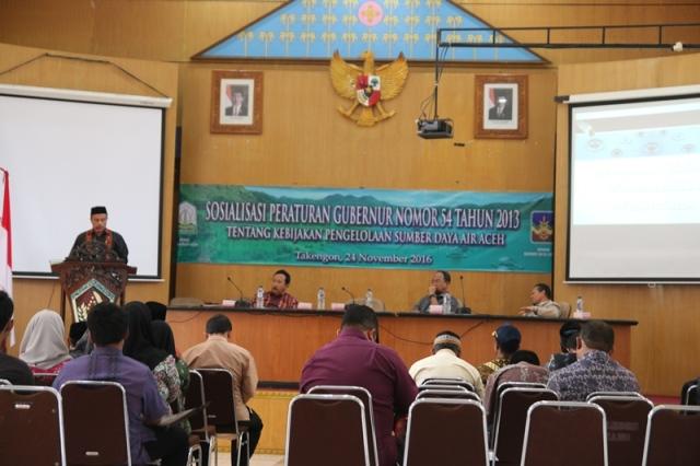 Pergub Pengelolaan Air Disosialisasikan di Aceh Tengah