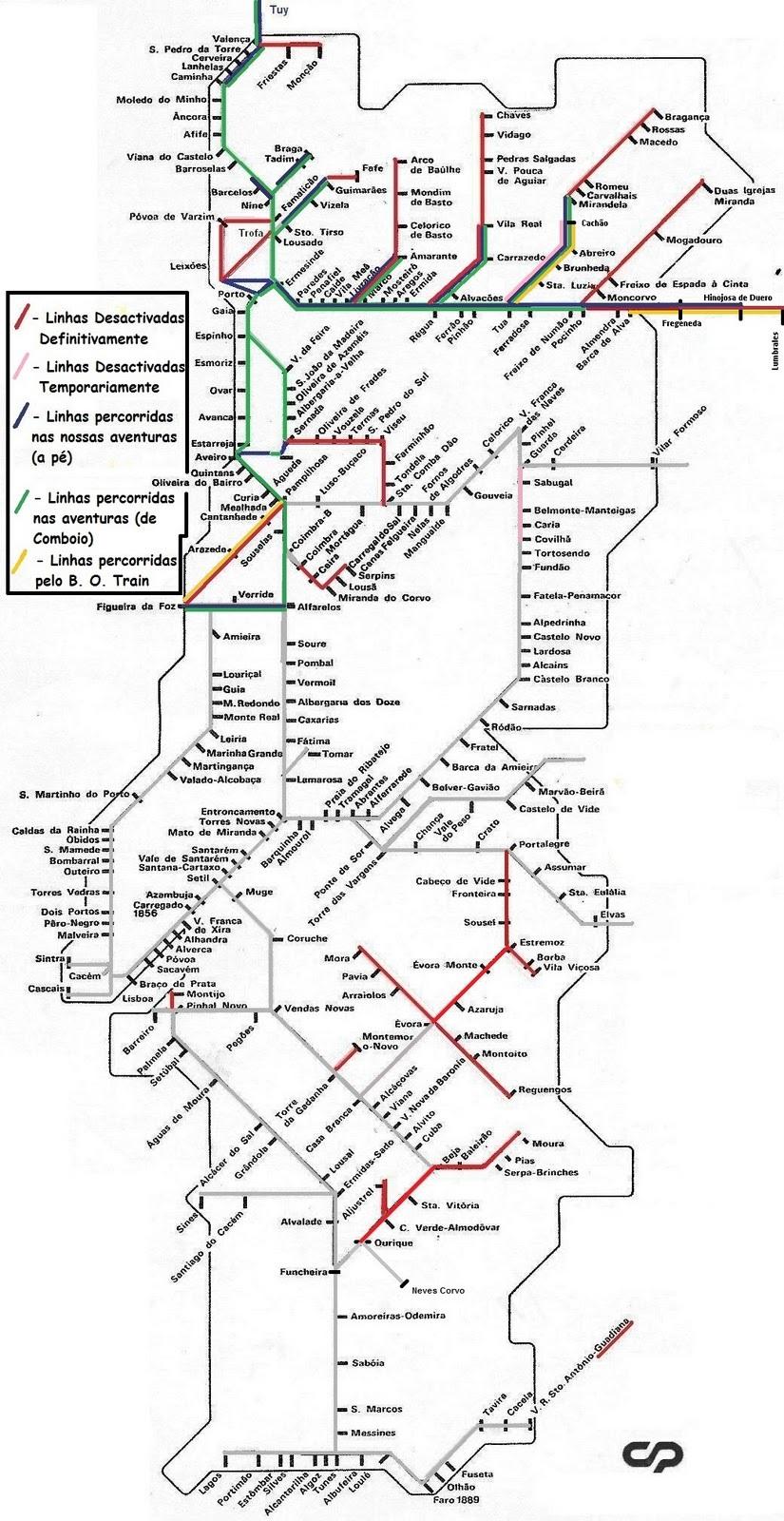 mapa das linhas ferroviarias de portugal The Brave Ones: SITE OFICIAL DOS THE BRAVE ONES mapa das linhas ferroviarias de portugal