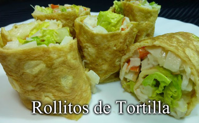 Rollitos de tortilla