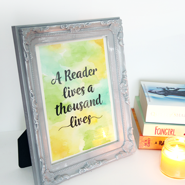 DIY Watercolor Bookish Calligraphy Quote