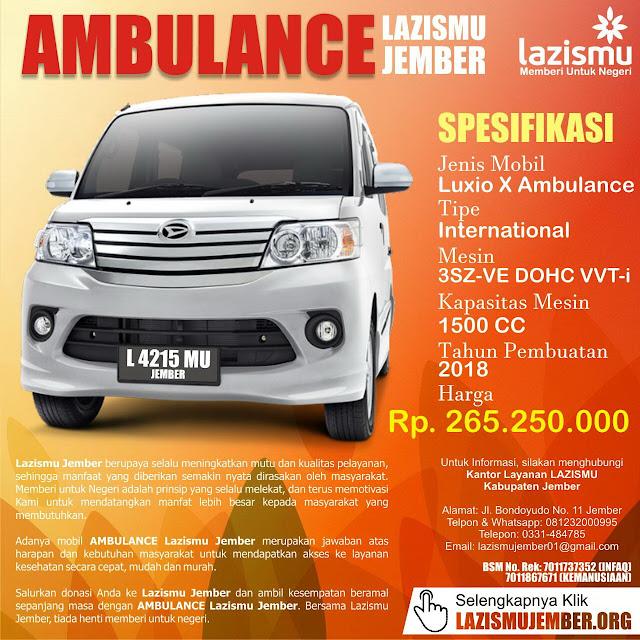 Penggalangan Ambulance Lazismu Jember untuk Kemanusiaan