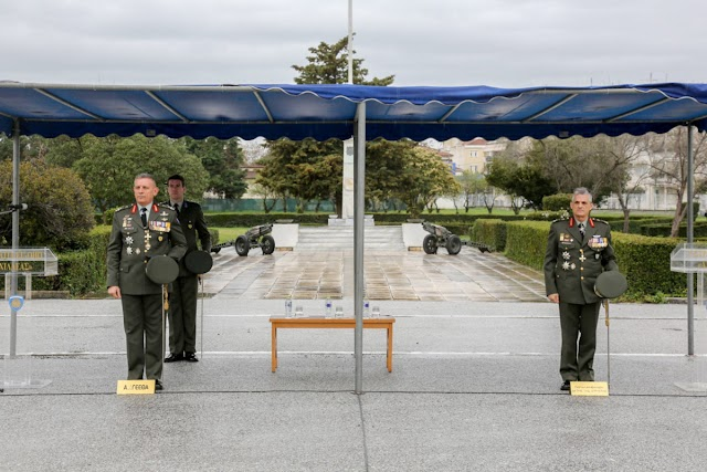 Κεκλεισμένων των θυρών η παράδοση – παραλαβή στην 1η Στρατιά (ΦΩΤΟ)