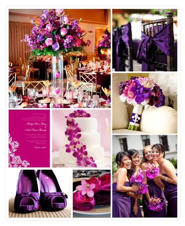 Pink Wedding Themes Ideas: Mr And Mrs Leonard: Purple-Pink-Silver Wedding Theme