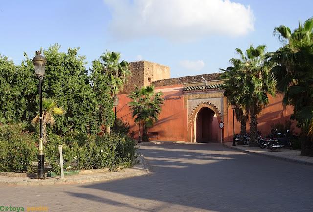 Vistas al palacio de Badí en Marrakech