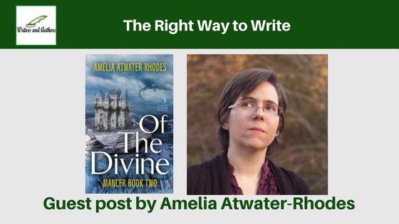 The Right Way to Write, guest post by Amelia Atwater-Rhodes
