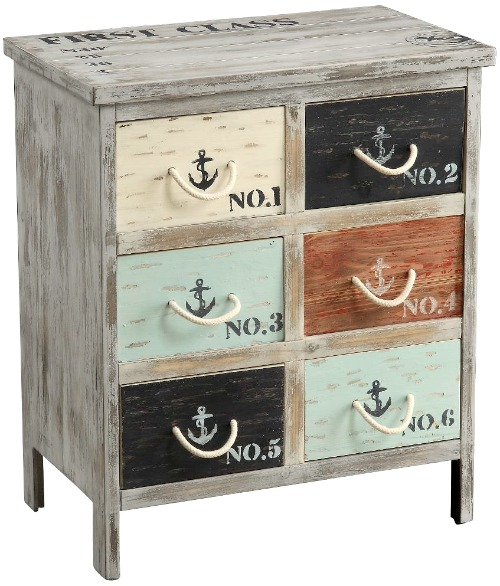 Nautical Cabinet with Anchors