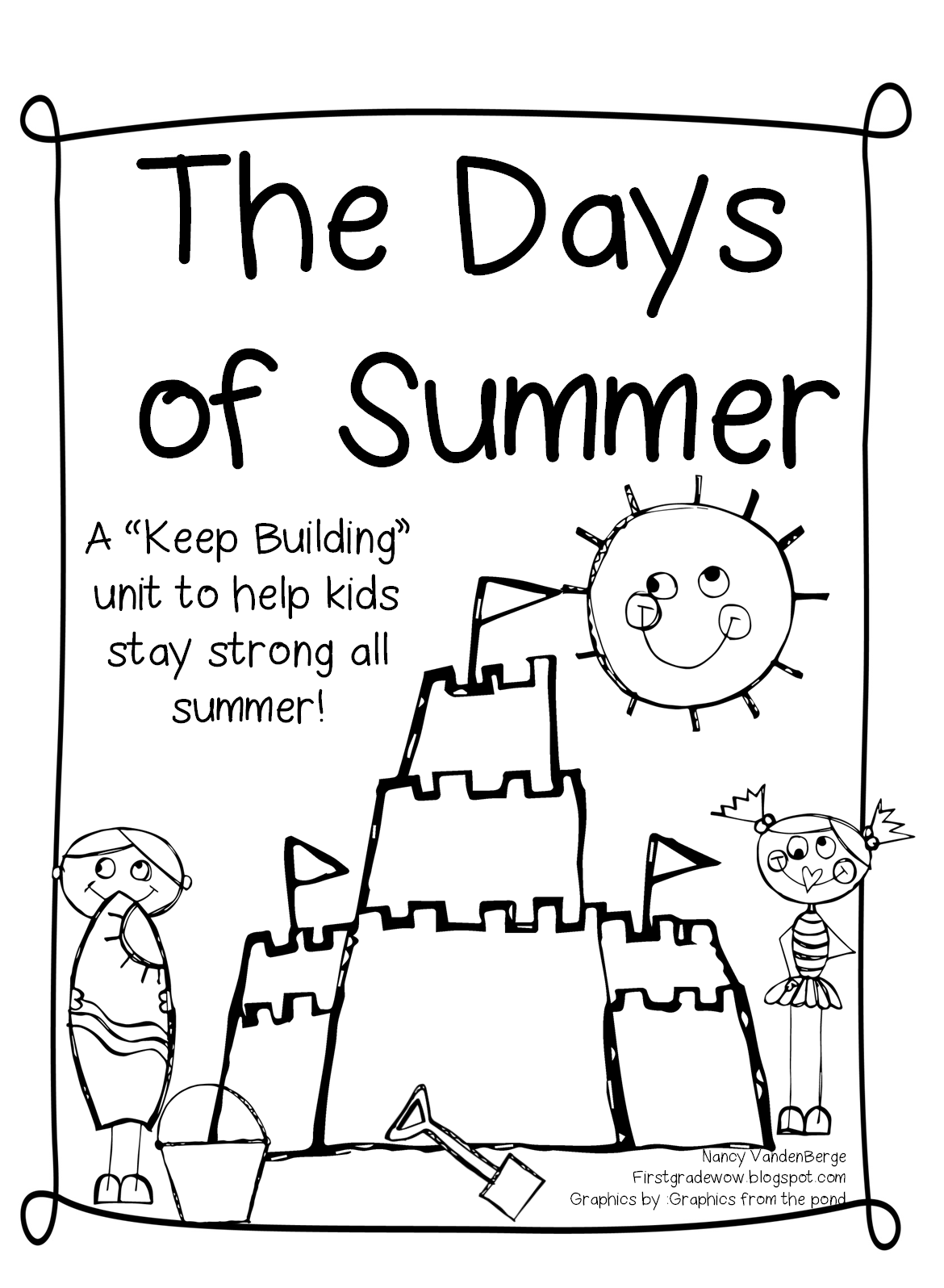 Free coloring pages of writing notebook cover for First day of summer coloring pages