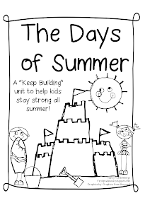 First Grade Wow: The Days of Summer! A send home packet of