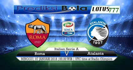 prediksi skor Roma vs Atalanta 07 januari 2018
