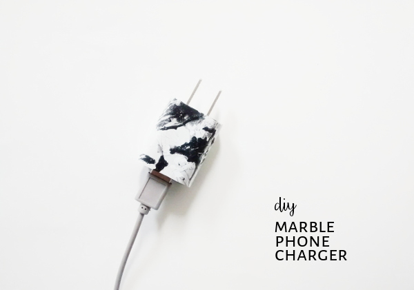 diy marble phone charger