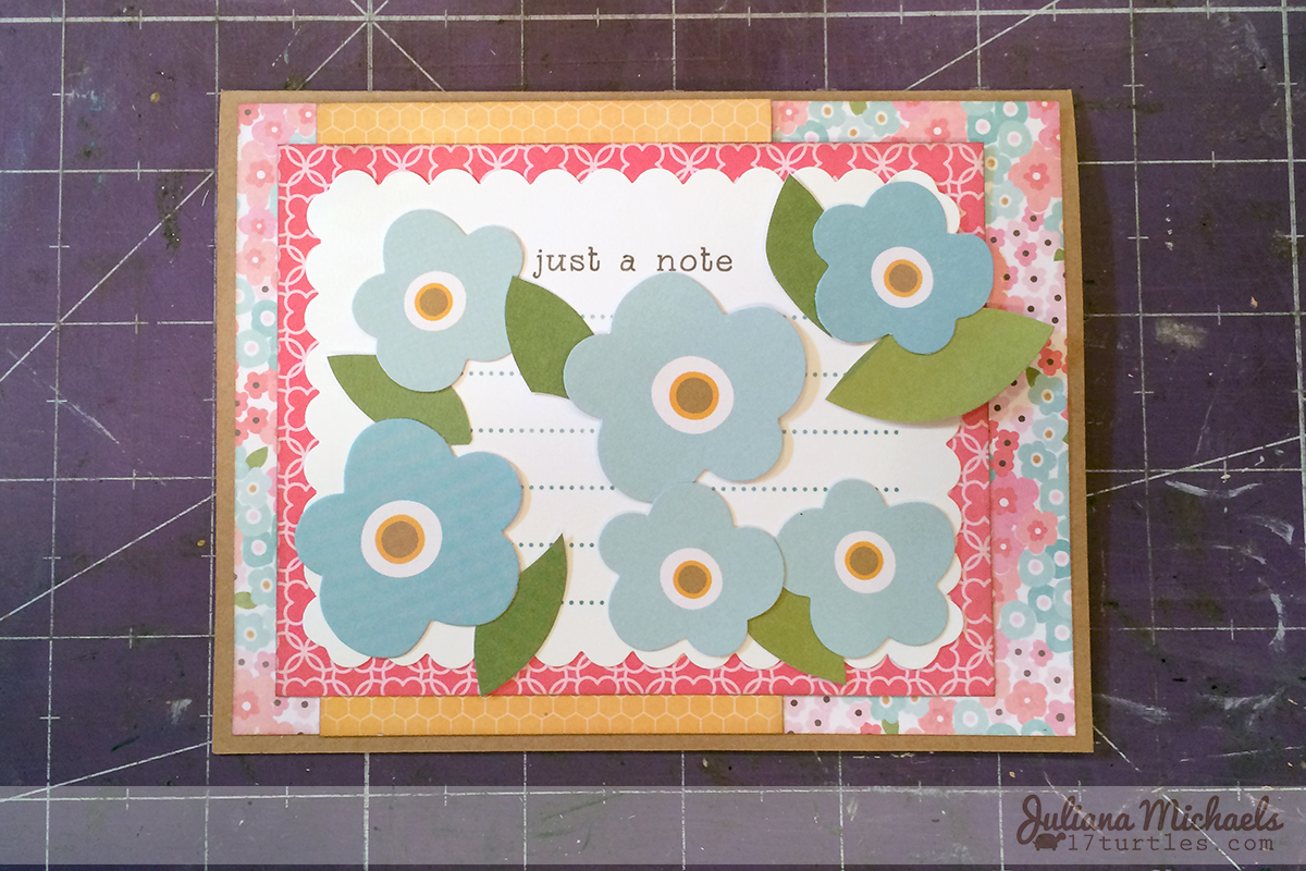 Floral Die Cut Background Butterfly Card Pebbles Inc Garden Party Collection by Juliana Michaels