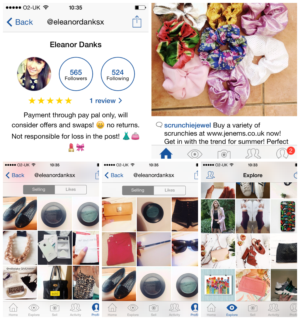 9d68902b14f ... wearing and have never worn before for a fraction of the retail selling  price, people are also selling handmade products such as scrunchies and  chokers, ...