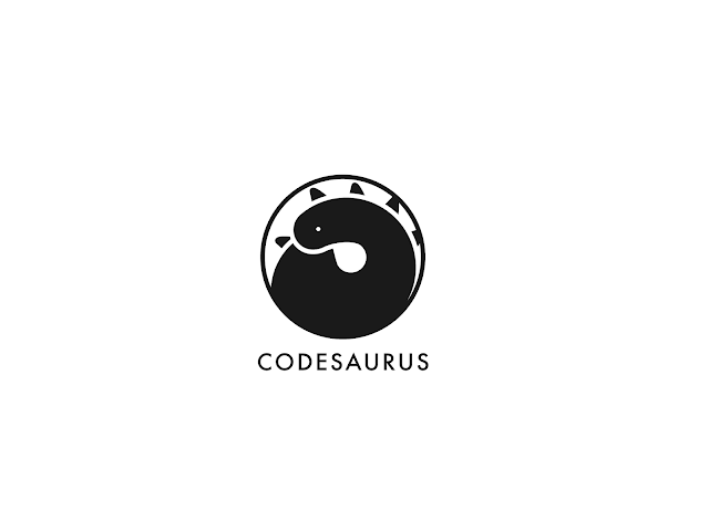 Logotype Codesaurus black