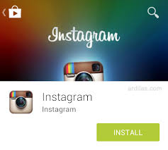 Instal Instagram di hp android