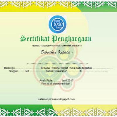 Template Desain Sertifikat / Piagam Penghargaan CDR File - Jualdesainku