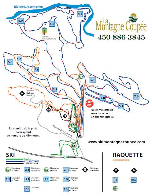 Ski glisse un p lerinage la montagne coup e - Montagne coupee ski de fond ...