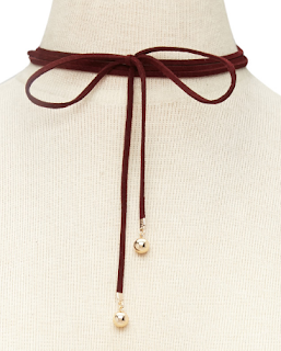 forever21 faux suede bolo tie choker