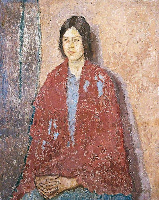 Young Woman in a Red Shawl (1917/23), Gwen John