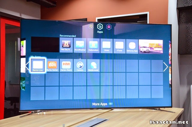 Bento Live will now be available to select from you Samsung Smart TV