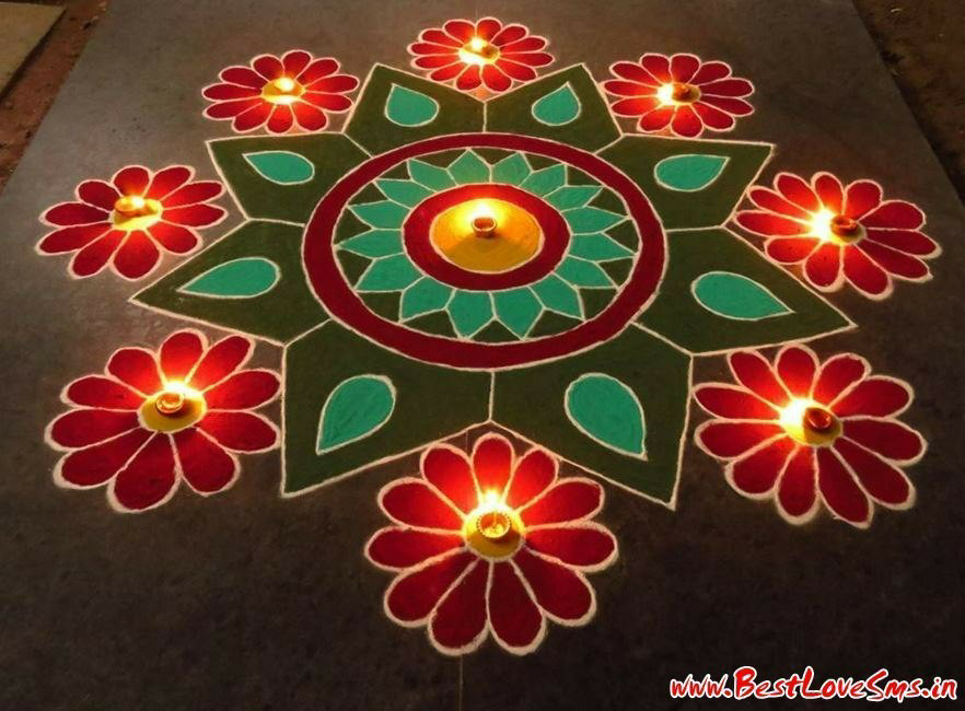 Happy New Year Best Rangoli 53
