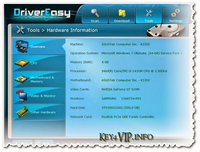 DriverEasy Professional v4.5.4.14813 Multilingual Full,Phần mềm tự động tìm Driver và cài đặt,nâng cấp Driver