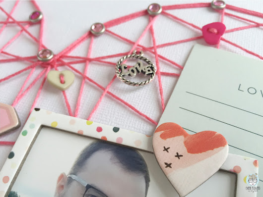 Paper flowers in my head: Como hacer un layout con string art