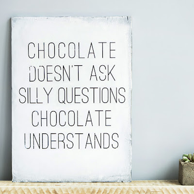 Chocolate Quotes On Canvas