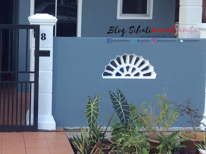 Cat Luar Rumah Warna Grey Blue White Black