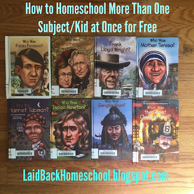 How to Homeschool More Than One Subject/Kid at Once for Free