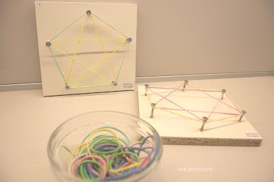 Geobrett Montessori Geometrie Holzbrett