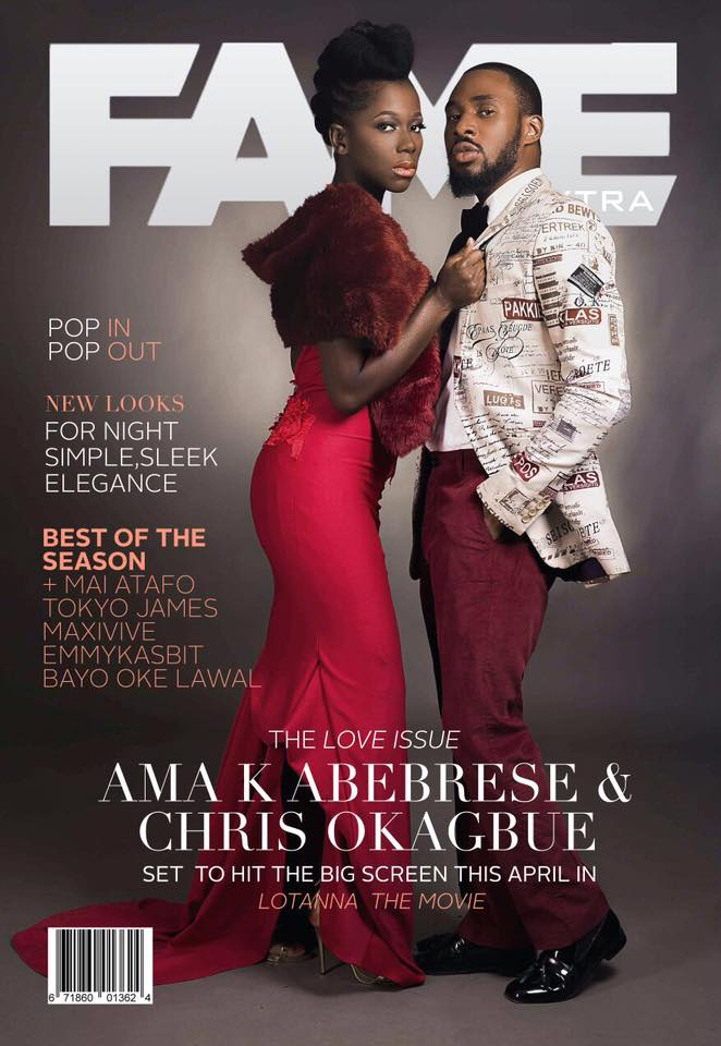 Ama K. (@Ama_K_Abebrese) covers February edition of Fame Xtra