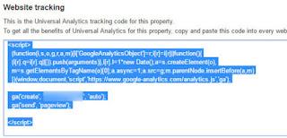 website tracking code