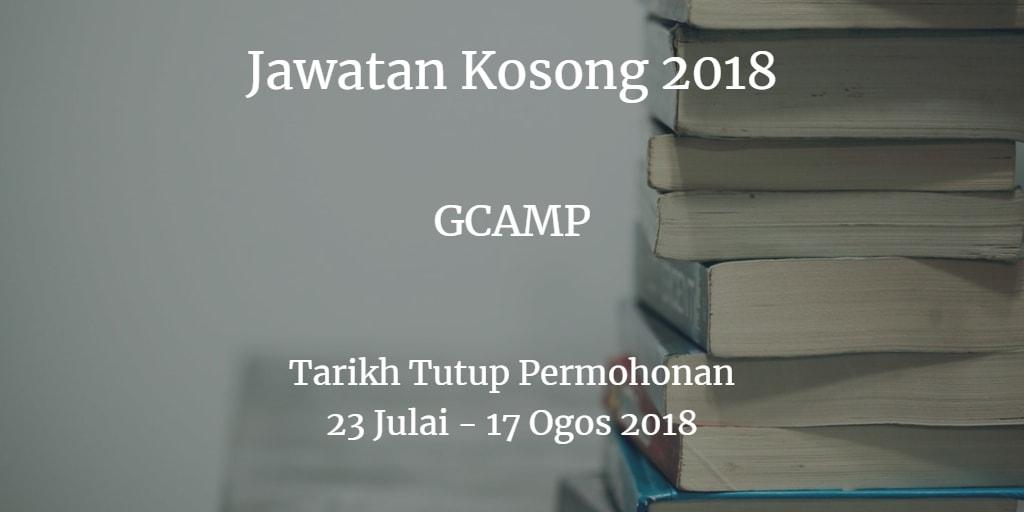 Jawatan Kosong GCAMP 23 Julai - 17 Ogos 2018