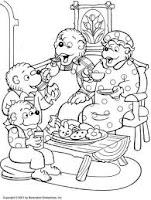 colorir ursinhos da família feliz