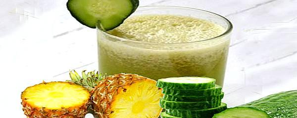 como hacer la dieta del batido o jugo de piña y pepino para adelgazar de forma natural