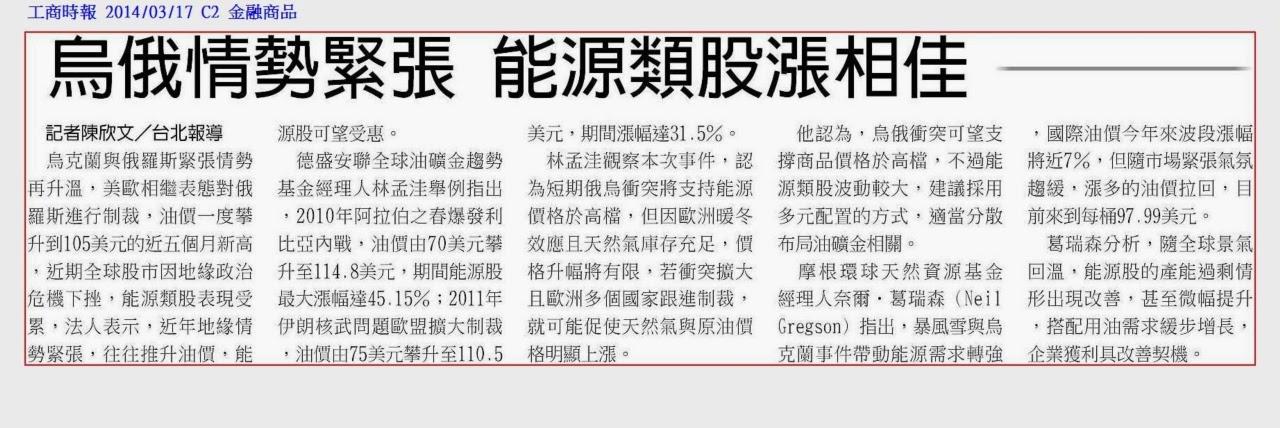 輕易豐盛學苑: Jamie精選工商時報20140315-17財經新聞
