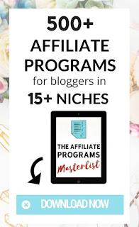 Affiliate Programs Master List