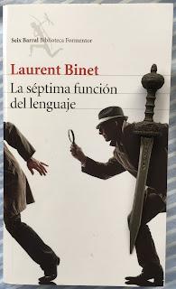 Portada del libro La séptima función del lenguaje, de Laurent Binet