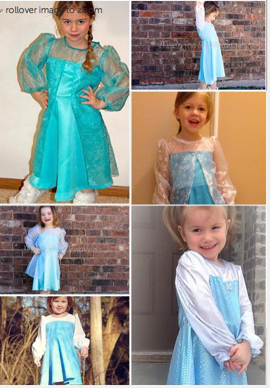 Elsa Dress Pattern with variations Kawartha Lakes kids will lov this Disney inspired dress